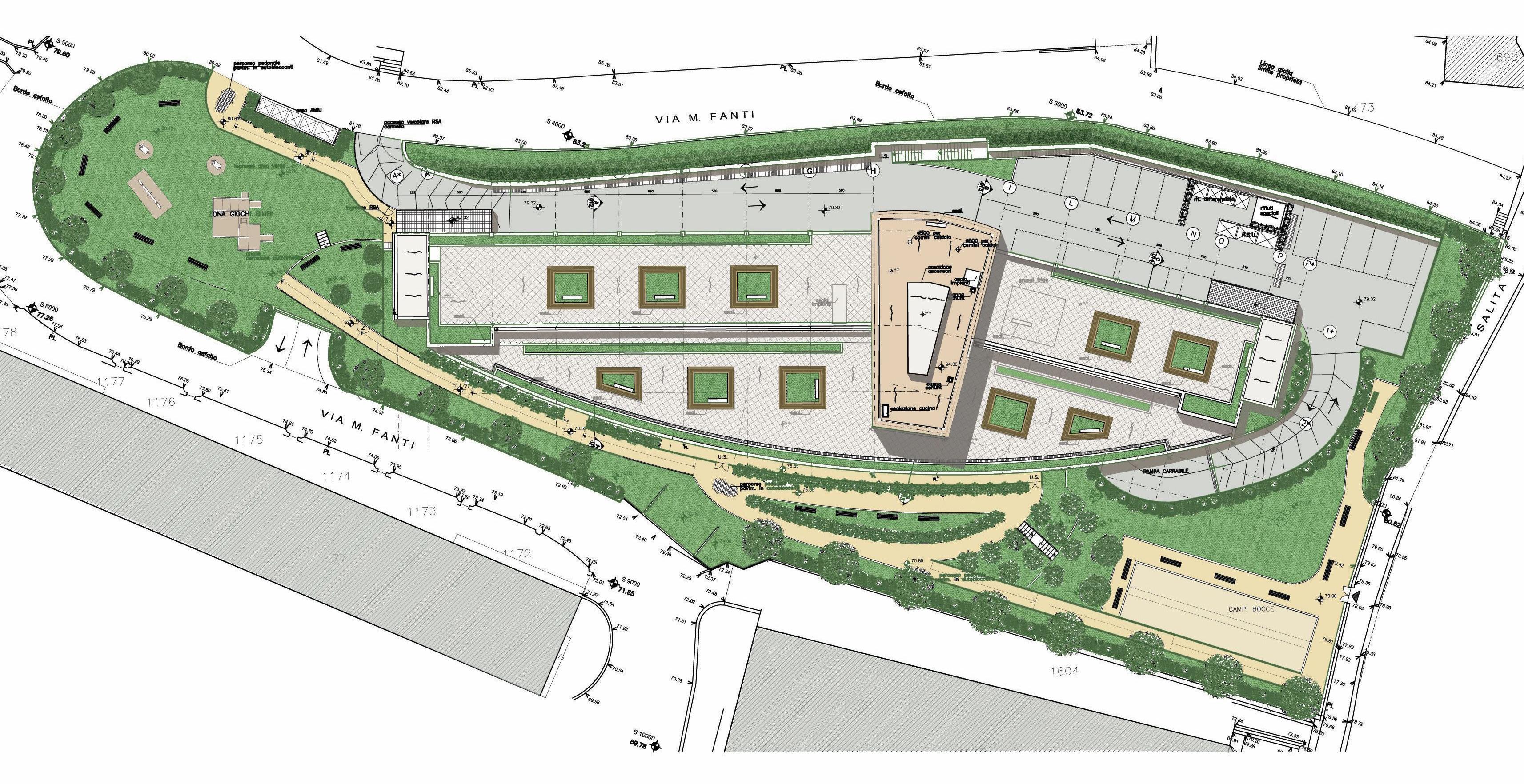Residenza protetta per anziani genova studio di for Progetto verde
